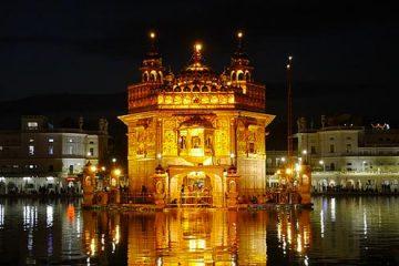 amritsar tempio d'oro notturna